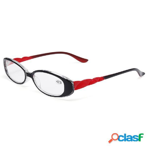 Mujer Marco de PC flexible ultra ligero que lee Gafas Gafas