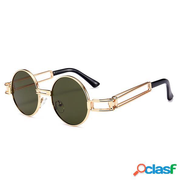 Mujer vendimia Gafas de sol redondas retro HD Gafas de sol