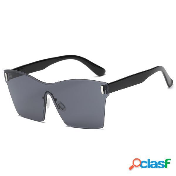 Mujer y Man Square Gafas gafas de sol siamesas transparentes