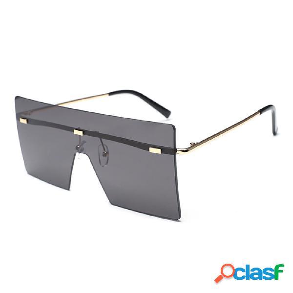 Mujer y Man Square Gafas gafas de sol transparentes con
