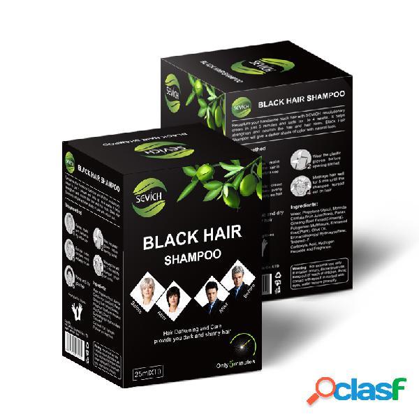 Negro Cabello Champú Color duradero Lavado fácil de color