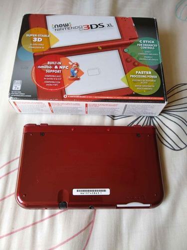 New 3ds Xl Rojo, Negro Y Space + 600 Juegos + Ds + 64gb