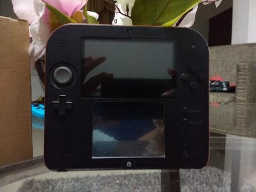 Nintendo 2ds Color Rojo Y Negro Con 3 Juegos