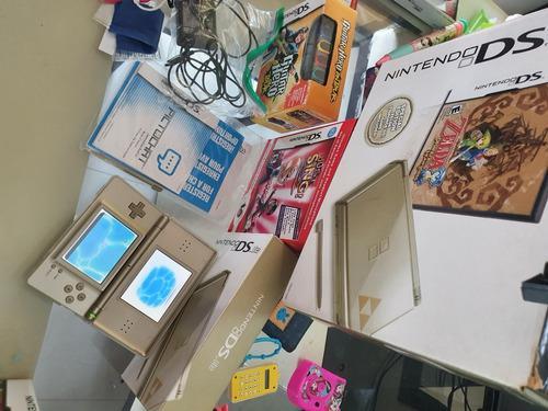 Nintendo Ds Lite Edicion Especial Zelda Con Caja + Juegos