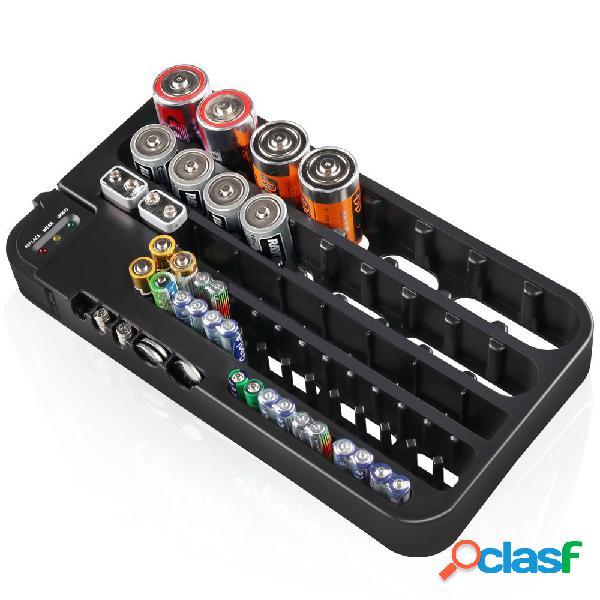 Organizador de la batería con el caso de la caja de