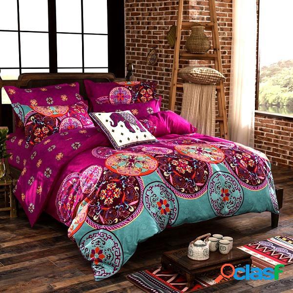 Pack de 4 piezas de prenda de cama de poliéster con