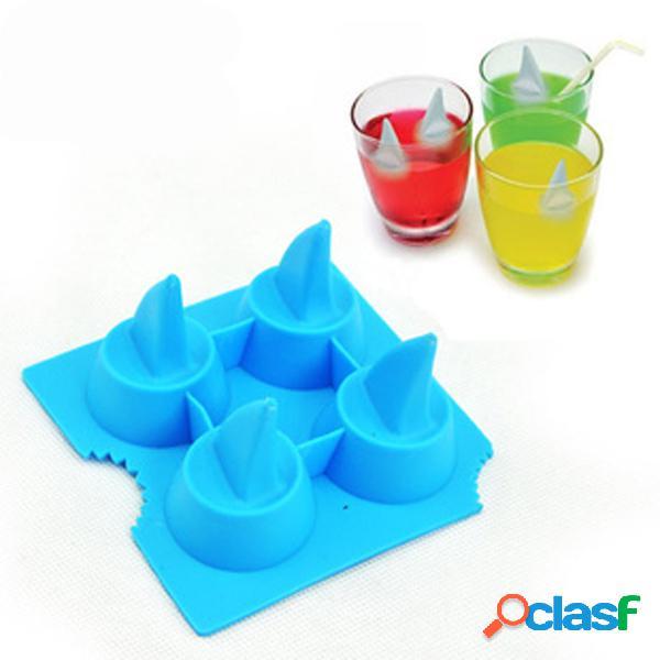 Plato de hielo de aleta de tiburón de silicona Cubo