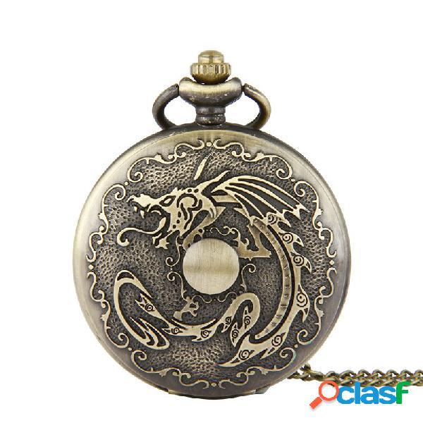 Reloj de bolsillo de reloj de pulsera de cuarzo Steampunk de