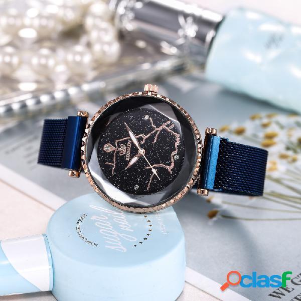 Reloj de cuarzo Starry Sky de moda Reloj de acero inoxidable