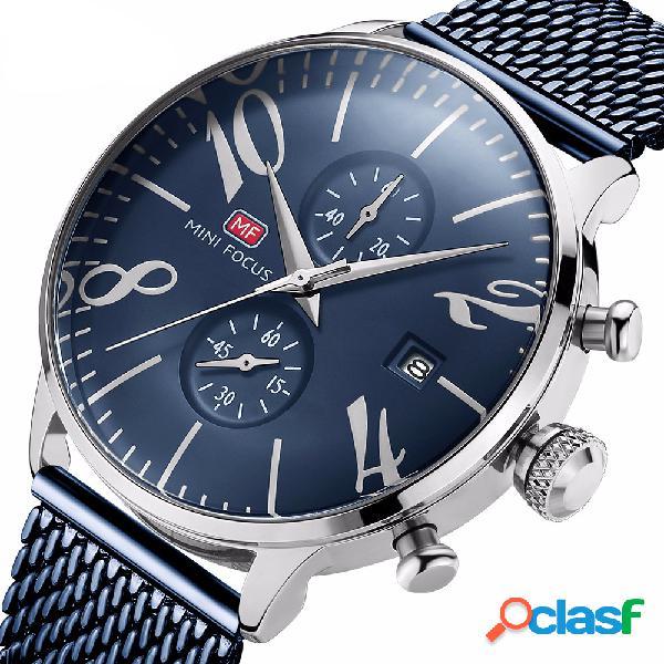Reloj de cuarzo resistente al agua para hombres de negocios