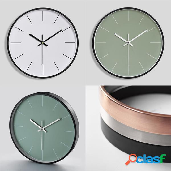 Reloj de pared de metal creativo Reloj digital de cuarzo