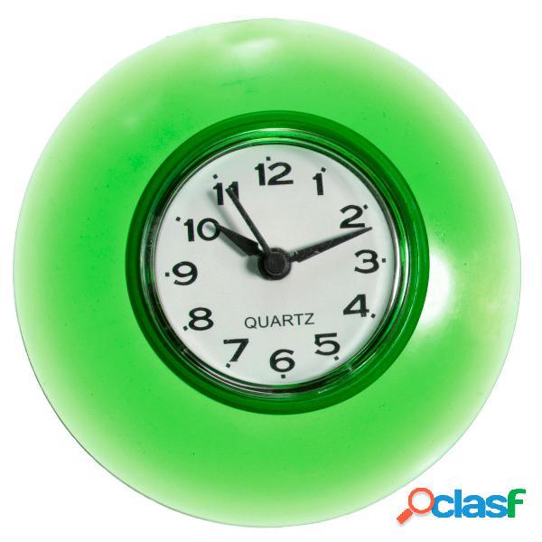 Reloj de pared de succión de silicona Resistente al agua