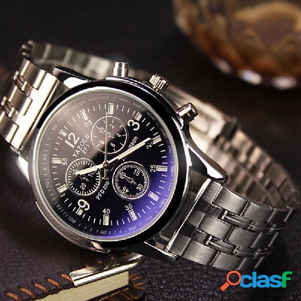 Reloj de pulsera de cuarzo de moda negro blanco ronda Dial