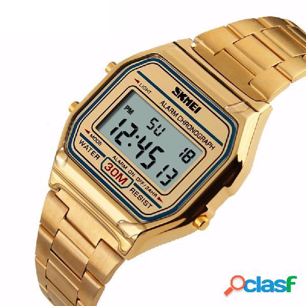 Reloj de pulsera de lujo de la banda de acero inoxidable