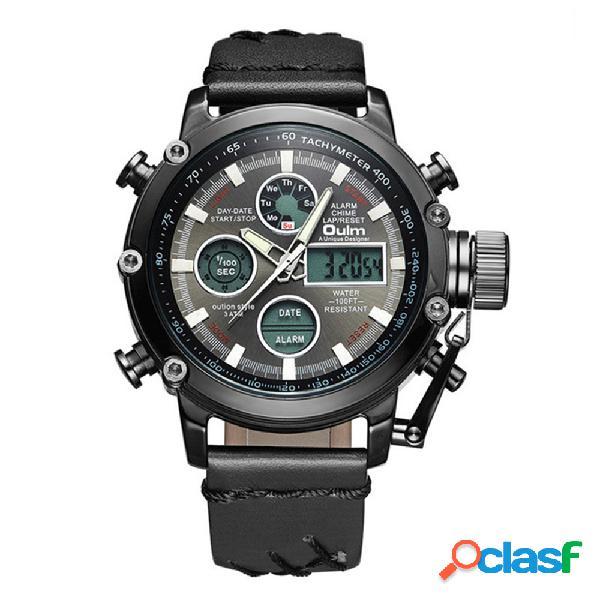 Reloj deportivo de cuarzo para hombre Relojes con pantalla