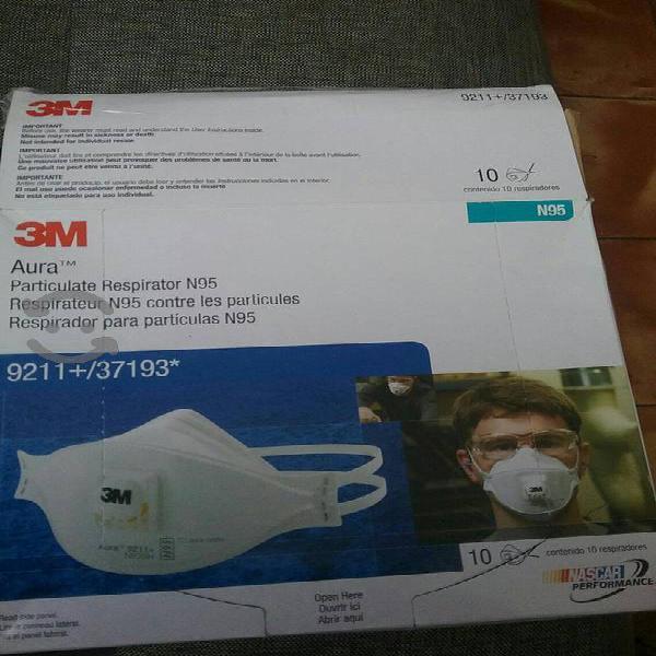 Respirador con valvula N95 3M modelo 9211 Aura