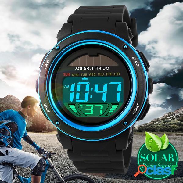 SKMEI Relojes Deportivos de Energía Solar Reloj Digital Al