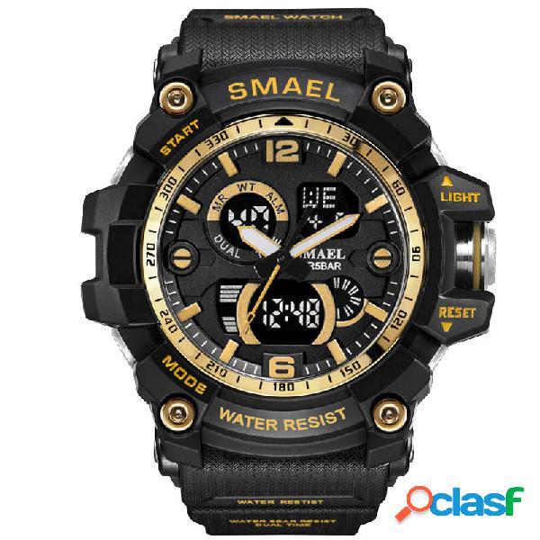 SMAEL Dual Display impermeable reloj deportivo reloj digital