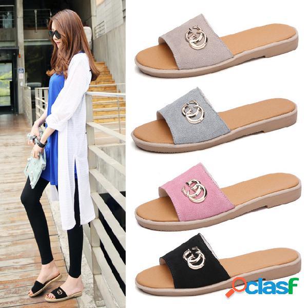 Sandalias y zapatillas New Fashion Fashion Leather Word