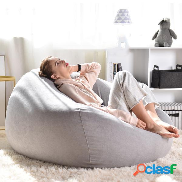 Sofá perezoso Fundas para sillas Sillón de tela de lino