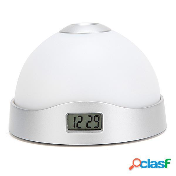 Tiempo de proyección Reloj LED Cambio de color Alarma Luz