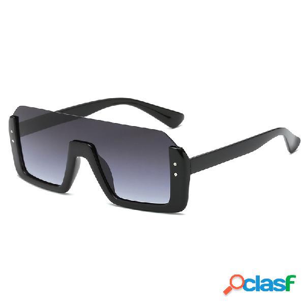 Unisex Retro Big Caja Gafas de sol cuadradas con protección