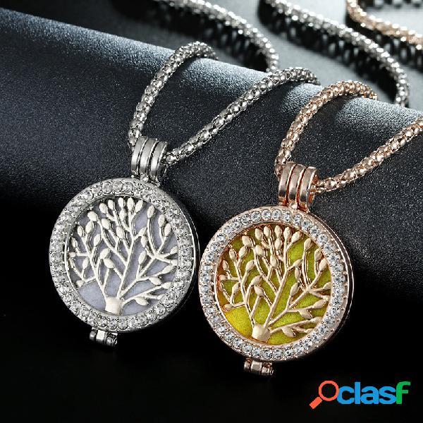 Vintage Life Tree Fragrance Necklace Collar de Aromaterapia
