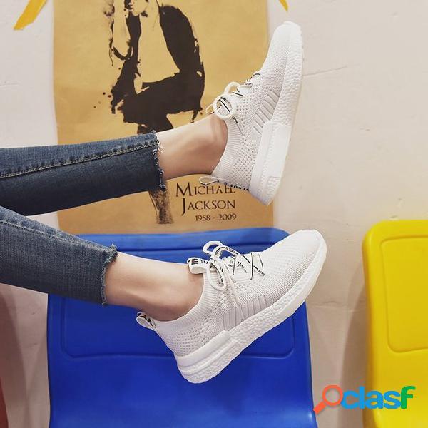 Zapatos de mujer Malla Zapatillas de deporte transpirables