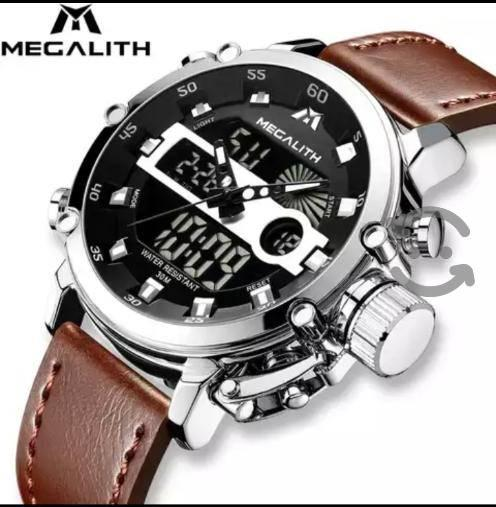 2019 reloj deportivo con cronógrafo MEGALITH Quart