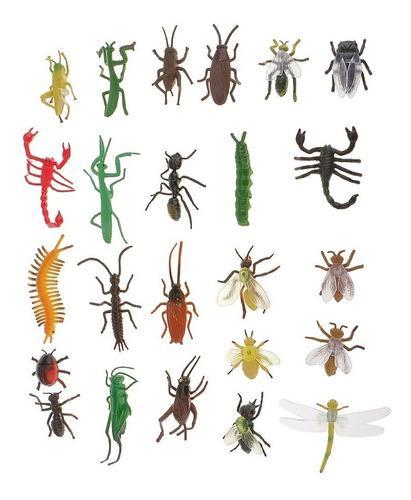24 Piezas De Juguetes Modelo De Insectos Plástico