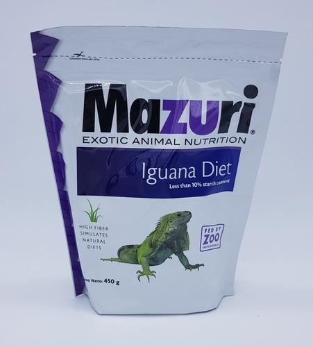 Alimento Balanceado Para Iguanas 450 Gr Mazuri