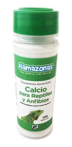 Calcio Para Anfibios Y Reptiles 200g Alamazonas Con Envío
