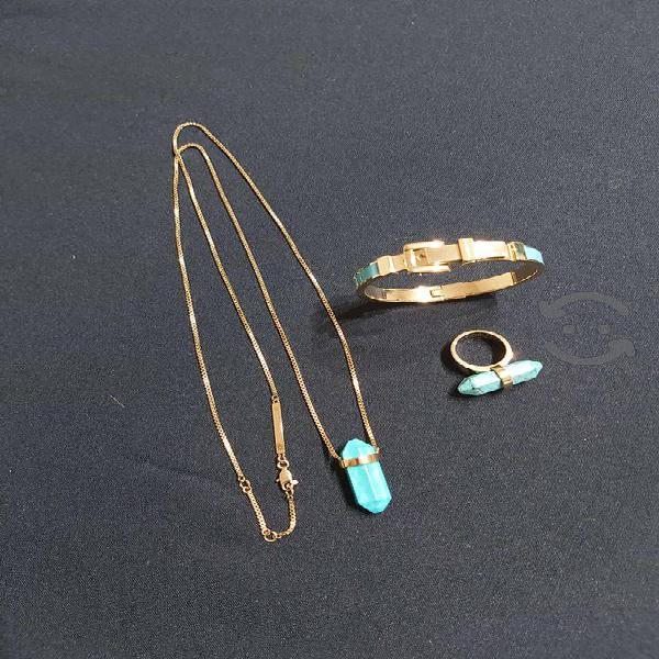 Collar aretes y anillo michael kors nuevos