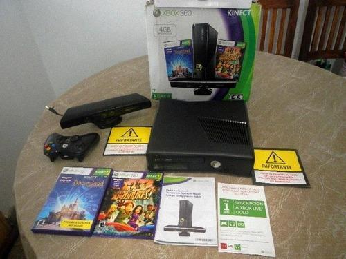Consola Xbox 360 En Buenas Condiciones Con Juegos Y Kinect