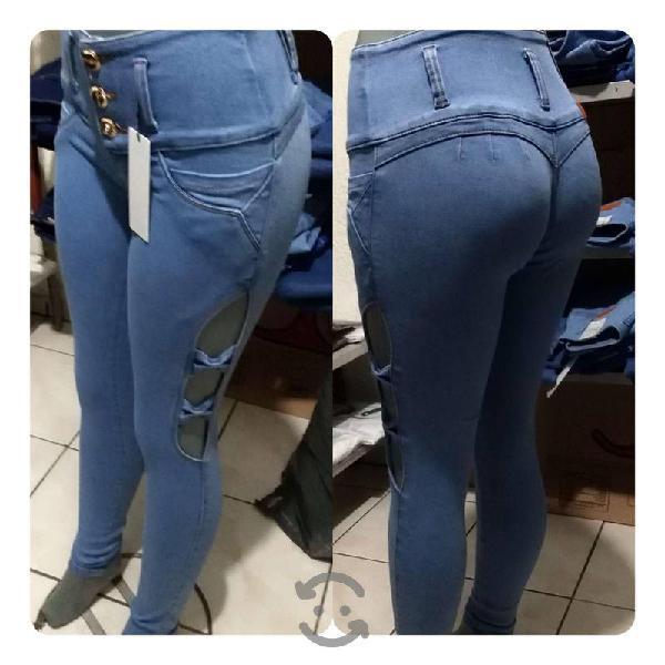 Jeans, pantalon corte colombiano a la cintura