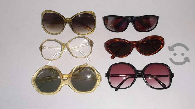 Lote 6 gafas para sol de 80s y 90s corte vintage