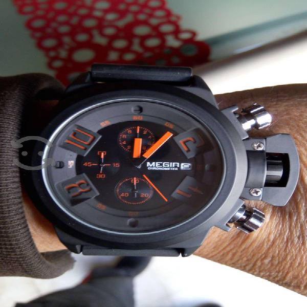 Reloj Crono Táctico Black Comando 1108