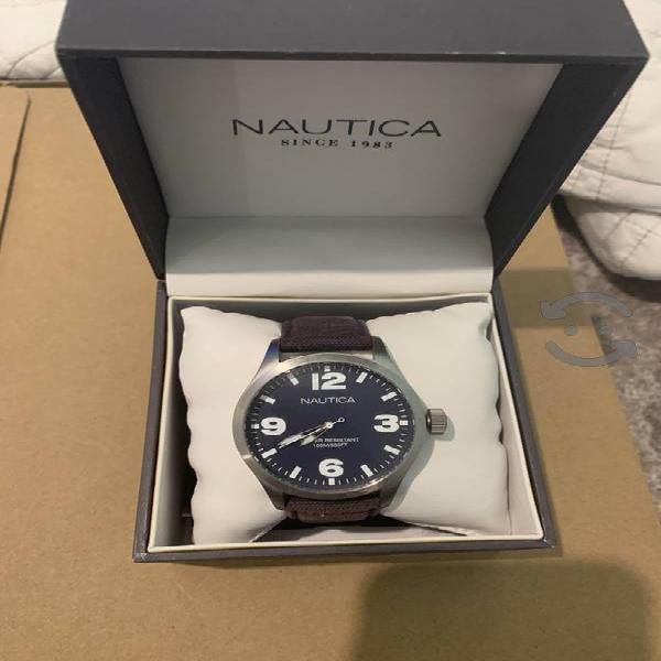 Reloj Nautica A11555G caballero acero tela
