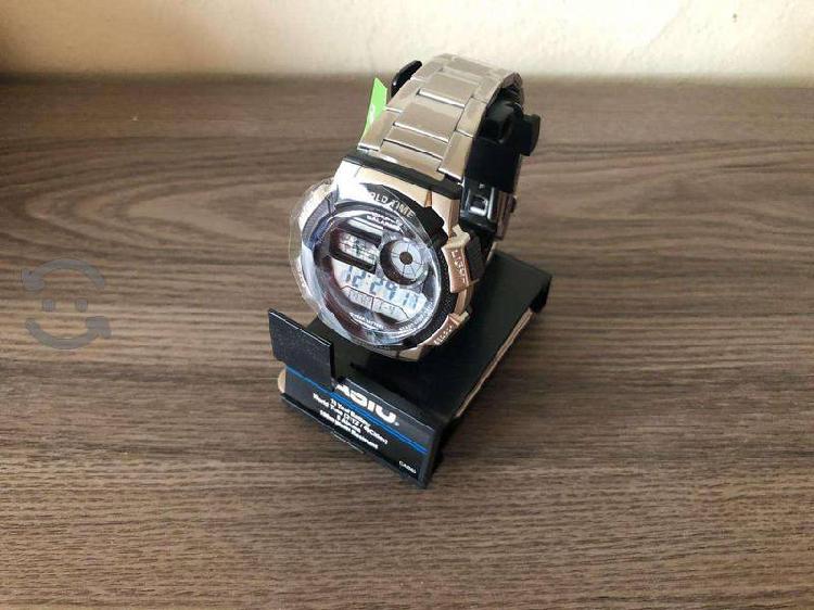 Reloj casio extensible acero inox illuminator wt