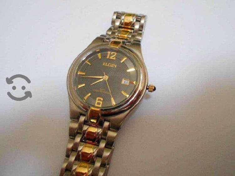 Reloj de hombre Elgin nuevo bi- tono