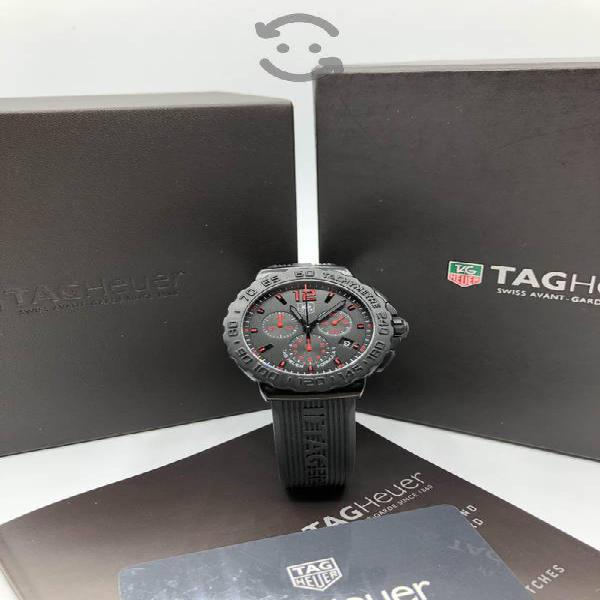 Tag Heuer F1 Chrono Black Dial Rubber Black