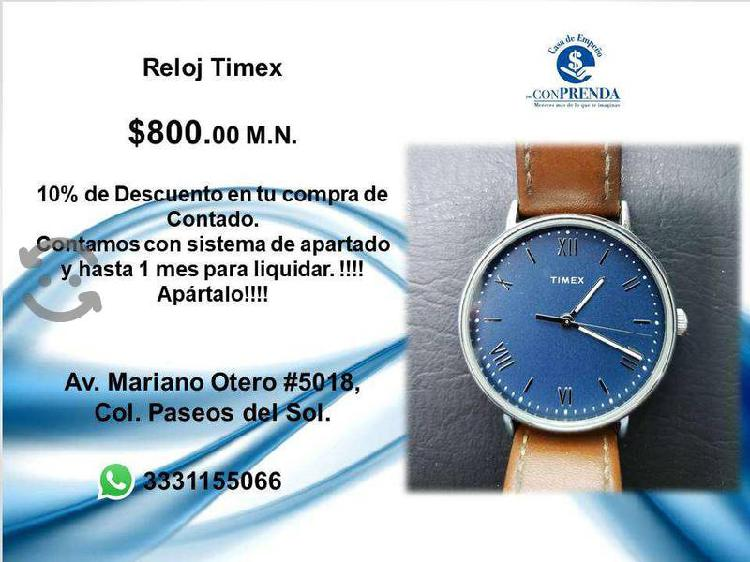 Timex extencible de Piel color cafe