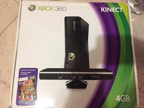 Xbox 360 4gb Con Kinect, 9 Juegos Y 2 Controles