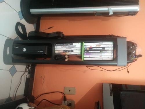 Xbox 360 Con Juegos Y Mueble Para Su Acomodo