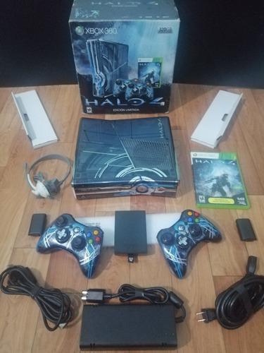 Xbox 360 Edicion Halo 4 320gb 2 Controles Con Caja Y Juego