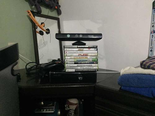 Xbox 360 Slim Con Control, 10 Juegos Con Pila Recargable
