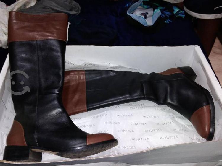 botas de piel con 1 sola puesta