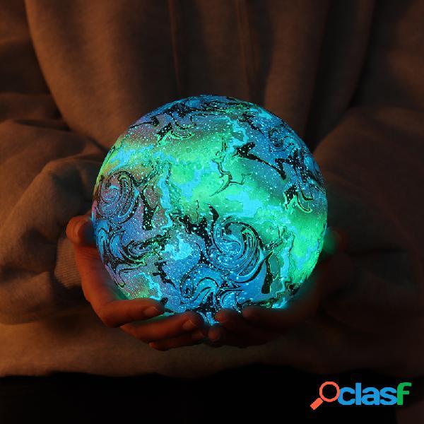 Nueva impresión 3D Lámpara de luna Decoraciones navideñas