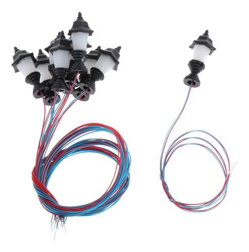 10x Modelo De Luces De Calle En Miniatura Led Ho Lámpara De