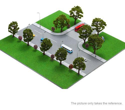 20 Piezas De Modelo De Árbol De Pagodo Verde Diseño De